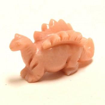 Dinosaur (Stegosaurus) 2.25 Inch Figurine - Orange Calcite