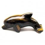Dolphin Classic 2.25 Inch Figurine - Tiger Eye