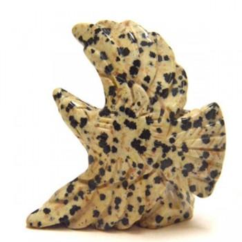 Eagle Soaring 2.25 Inch Figurine - Dalmatian Dacite