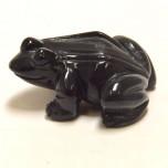 Frog Classic 2.25 Inch Figurine - Obsidian Black