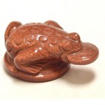 Frog with Coin 2.25 Inch Figurine - Goldstone