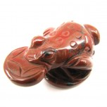 Frog with Coin 2.25 Inch Figurine - Rainbow Jasper