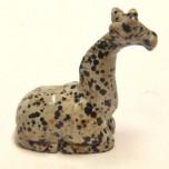 Giraffe Sitting 2.25 Inch Figurine - Dalmatian Dacite