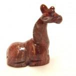 Giraffe Sitting 2.25 Inch Figurine - Rainbow Jasper