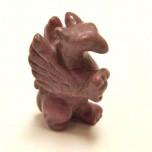 Griffin 2.25 Inch Figurine - Rhodonite