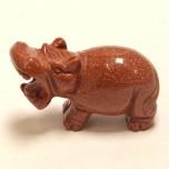 Hippo 2.25 Inch Figurine - Goldstone