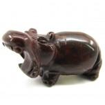 Hippo 2.25 Inch Figurine - Rainbow Jasper