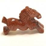 Horse Running 2.25 Inch Figurine - Goldstone