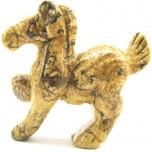 Horse Pacing 2.25 Inch Figurine - Picture Jasper