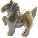Horse Pacing 2.25 Inch Figurine - Tiger Eye