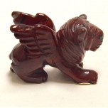 Lion with Wings 2.25 Inch Figurine - Rainbow Jasper