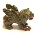 Lion with Wings 2.25 Inch Figurine - Unakite