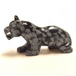 Panther 2.25 Inch Figurine - Snowflake Obsidian