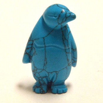 Penguin 2.25 Inch Figurine - Howlite Turquoise