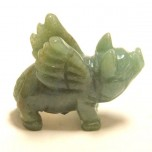 Pig Flying 2.25 Inch Figurine - Aventurine