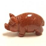 Pig Classic 2.25 Inch Figurine - Goldstone