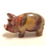 Pig Classic 2.25 Inch Figurine - Rainbow Jasper