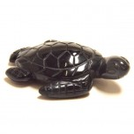 Sea Turtle 2.25 Inch Figurine - Obsidian Black