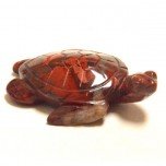 Sea Turtle 2.25 Inch Figurine - Rainbow Jasper