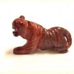 Tiger 2.25 Inch Figurine - Rainbow Jasper