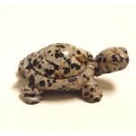 Turtle 2.25 Inch Figurine - Dalmatian Dacite