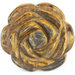 Rose 40mm Pendant - Tiger Eye