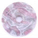 Donut 40mm Pendant - Rhodonite