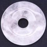 Donut 40mm Pendant - Rose Quartz