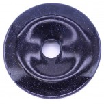 Donut 40mm Pendant - Blue Goldstone