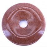 Donut 40mm Pendant - Goldstone