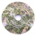Donut 50mm Pendant - Unakite
