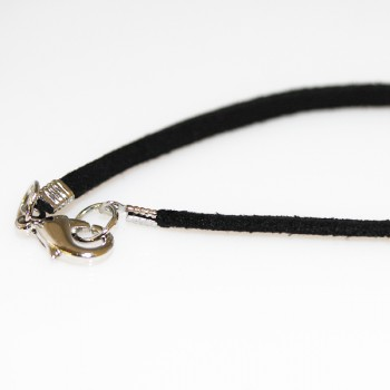 18 Inch 3mm Suede Leather Economy Cord 50 piece pack - Black