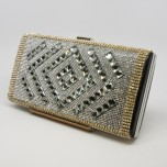 Minaudière Purse - Diamond Center - Black