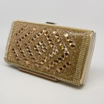 Minaudière Purse - Diamond Center - Gold