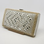 Minaudière Purse - Diamond Center - Silver