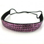 Quad Row Headband - Dark Pink