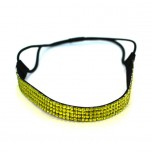 Quad Row Headband - Lime Green