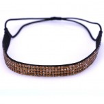Quad Row Headband - Amber