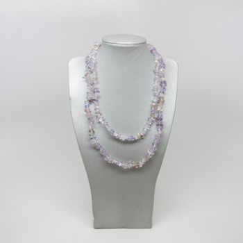 34-35 Inch Chip Necklace - Ametrine
