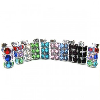 Rhinestone Crystal Pendants 10 piece Packs - Multi Color Stacked