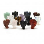 Angel Carved Fetish Bead 0.75 Inch - Assorted Stones
