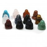 Buddha Classic Carved Fetish Bead 0.75 Inch - Assorted Stones