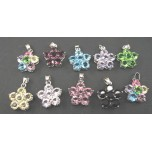 Rhinestone Crystal Pendants 10 piece Packs - 6 Crystal