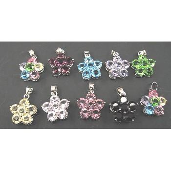 Rhinestone Crystal Pendants 10 piece Packs - 6 Crystal