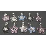 Rhinestone Crystal Pendants 10 piece Packs - 5 Crystal