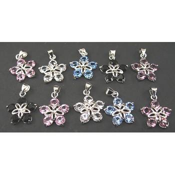 Rhinestone Crystal Pendants 10 piece Packs - 5 Crystal