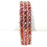 Crystal Snake Skin Bracelet - Red AB