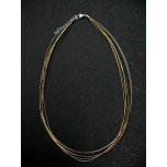 18 Inch 8 Strand Gold and Silver Choker with 2 Inch extension 10 piece pack
