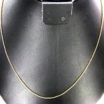 18 Inch 1.2mm Gold Plated Ball Chain