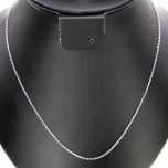 18 Inch 0.5mm Rhodium Plated Cable Chain